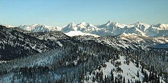 Whitefish Range - Image: Glacier mountain range
