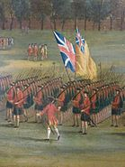 Glasgow Green, c.1758 (Black Watch) detail 3