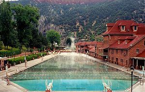 Roaring Fork Valley - The famous healing waters of Glenwood Springs.