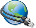 Globe icon with network cables.png