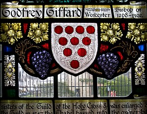 Godfrey Giffard - Memorial window in the Chapel of the Holy Cross, Stratford-upon-Avon