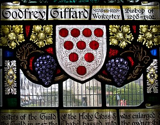 Godfrey Giffard - Memorial window in the Chapel of the Holy Cross, Stratford-upon-Avon
