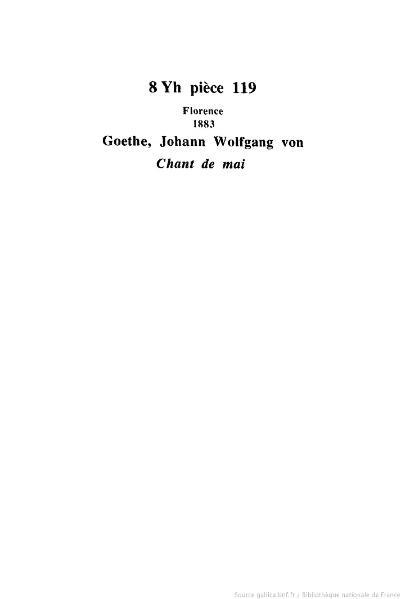 File:Goethe - Chant de mai, 1883, trad. Camus.djvu