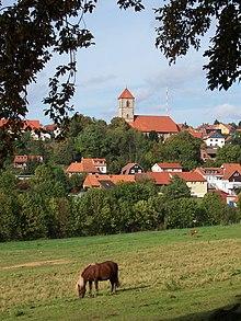 Blick auf Nikolausberg - Quelle: Wikipedia CC BY-SA 3.0 - Patrick Hessman