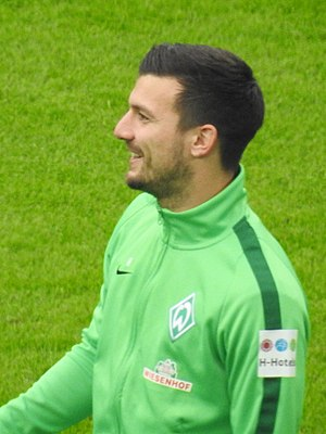 Jérôme Gondorf - Gondorf training with Werder Bremen in 2017