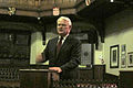 Gordon Campbell speaking at the Cambridge Union Society.JPG