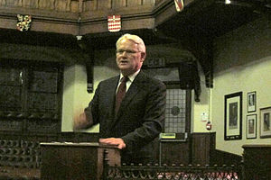Gordon Campbell - Campbell speaking at the Cambridge Union Society