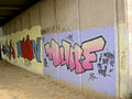 Graffiti under parkway bridge over river Dearne. - geograph.org.uk - 521794.jpg