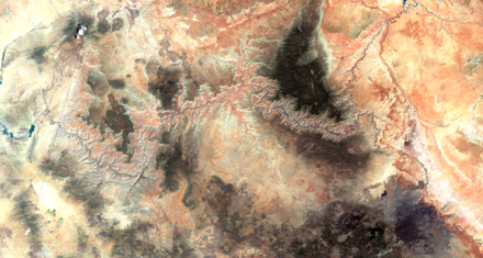 Grand Canyon, Arizona, Nevada, Lake Powell to Lake Mead, June 27, 2017, Sentinel-2 true-color satellite image. Scale 1:450,000. GrandCanyon27June2017.tif