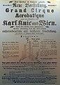 Grand Cirque Acrobatique, Karl Knie aus Wein gastiert in Berlin, Unter den Linden, Anschlagzettel 16. Mai 1856, Archiv Gebrüder Knie - Stadtmuseum Rapperswil 2013-02-02 16-29-05 (P7700).JPG
