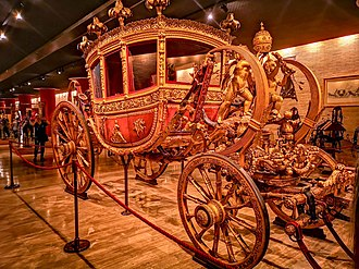 "Carriage - ""The Grand Gala Berlin"", a luxury carriage constructed in Rome during the first half of the nineteenth century, is the work of two pontiffs: Leo XII, who called for it to be produced in the years 1824–1826, and Gregory XVI, who requested some important modifications."