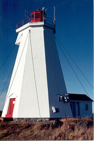 Grand Manan - The Swallowtail Lighthouse, the first major landmark that visitors see when arriving by ferry.