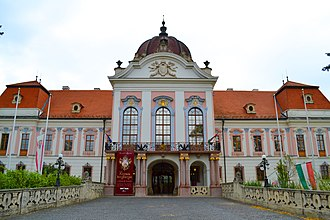 Gödöllő Palace - Main entrance of the palace