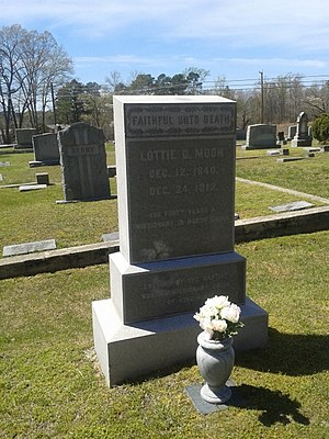 Lottie Moon - Moon's gravesite in Crewe, Virginia