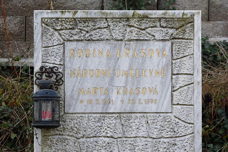 File:Gravestone of Marta Krásová, Vráž (0374).jpg