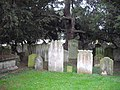 Gravestones in graveyard at the Parish Church of All Saints - geograph.org.uk - 1566402.jpg