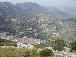 Grazalema seen from the Sierra del Endrinal