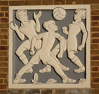 Great Barr School - relief showing boys