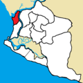 Greater Monrovia District - New Kru Town Borough highlighted.png