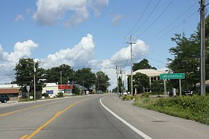 Greilickville, Michigan - Sign on M-22