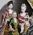 Grigorii Semenovich Musikiiskii - Portrait Medallion of Peter the Great and Family - Walters 44326 - detail.jpg