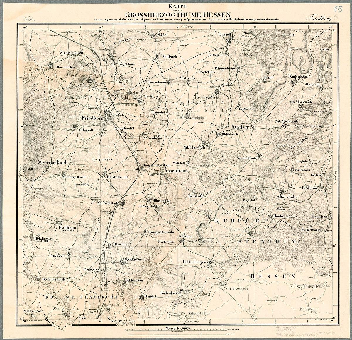 Datei Grossherzogtum Hessen 1832 1850 Karte 15 Jpg Wikipedia