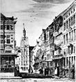 Grote Staat en Dinghuis naar prent van J.de Beyer, ca.1750, reproductie van foto door de La Haye - Maastricht - 20148464 - RCE2.jpg