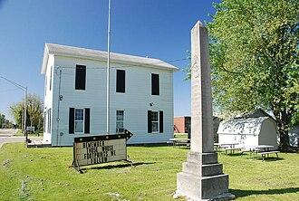 Groveland, Illinois - War memorial in Groveland
