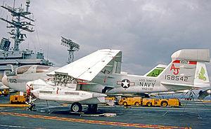 VAQ-130 - Image: Grumman EA 6B 158542 Nimitz 05.09.75 edited 3