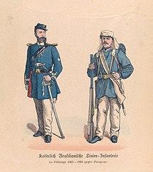 Oficial e soldado brasileiros