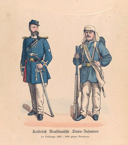 Brazilian officer and soldier Guerra do Paraguai - Oficial e Soldado.JPG