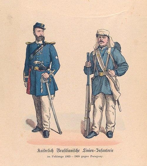 Guerra do Paraguai - Oficial e Soldado