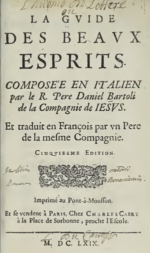 L'huomo di lettere -  Pont à Mousson: Jesuit press, 1669