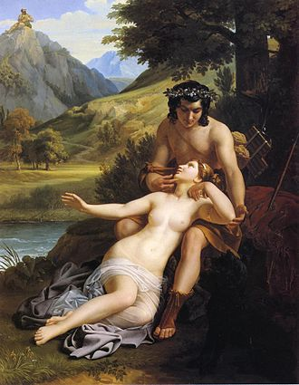 Acis and Galatea - The Loves of Acis and Galatea by Alexandre Charles Guillemot (1827)