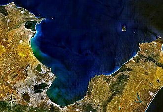 Gulf of Tunis - Gulf of Tunis seen from space
