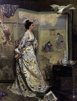 Gustave Léonard de Jonghe - The Japanese fan