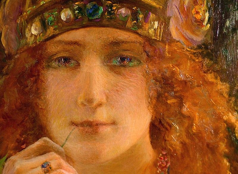 Gaston Bussière: Helena de Troya (1895).