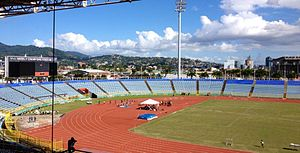 Football in Trinidad and Tobago - Hasely Crawford Stadium, home to Defence Force, Police, San Juan Jabloteh, St. Ann's Rangers, and the Trinidad and Tobago national team