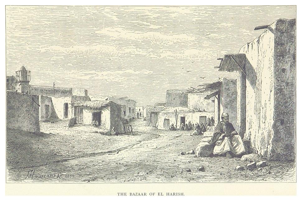 HESSE-WARTEGG(1881) p085 THE BAZAAR OF EL HARISH