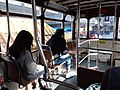 HK 中環 Central tram upper deck interior visitors seats n view 德輔道中 Des Voeux Road December 2018 SSG.jpg