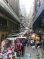 HK CityBus 10 tour view Central clothing outdoor market stalls Mar-2014 利源西街 Li Yuen Street West.JPG