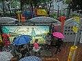 HK CityBus 97 tour view Wan Chai Johnston Road rain Southorn Playground Apr-2013.JPG