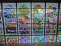 HK King's Park 伊利沙伯醫院 Queen Elizabeth Hospital colourful glass windows Jan-2014.JPG