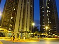 HK evening 沙田第一城 Shatin City One Hang Shing Street basketball court square visitors Feb-2016 DSC.JPG