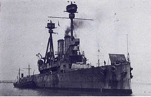 HMS Agamemnon (1906) - Agamemnon in 1924–25 during her service as a target ship.
