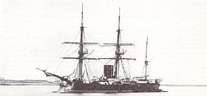 British masted turret ship HMS Neptune