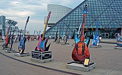 HOF-Guitars - Guitars outside the Rock and Roll Hall of Fame.jpg