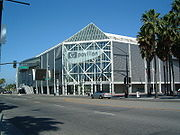 "The HP Pavilion at San Jose, known as ""the Shark Tank"""