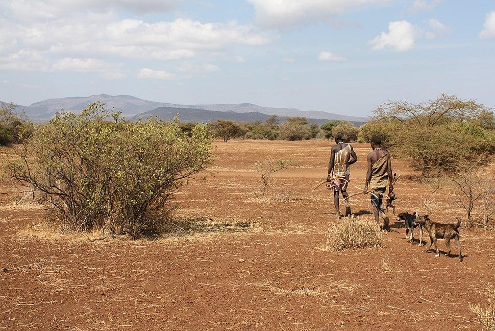 Hadazbe returning from hunt