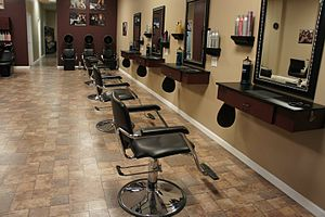 Beauty salon - Hair salon styling floor